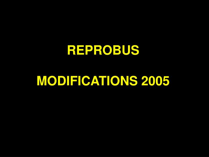 REPROBUS