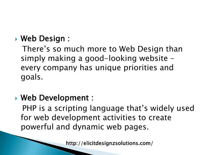 Web Design :