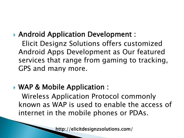 Android Application Development :