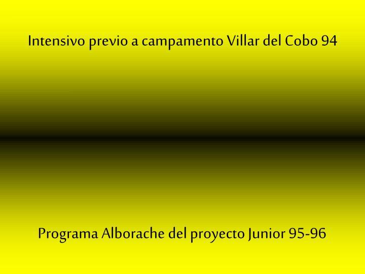Intensivo previo a campamento Villar del Cobo 94