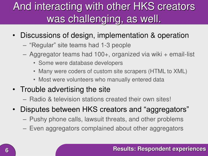 And interacting with other HKS creators