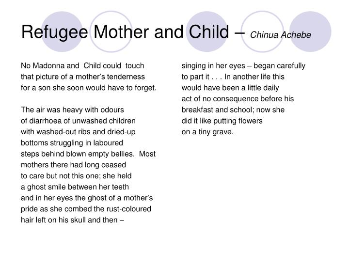 Refugee Mother and Child –