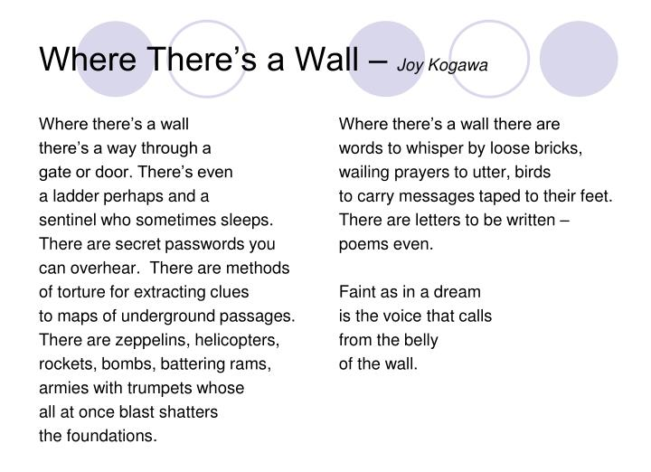 Where There's a Wall –