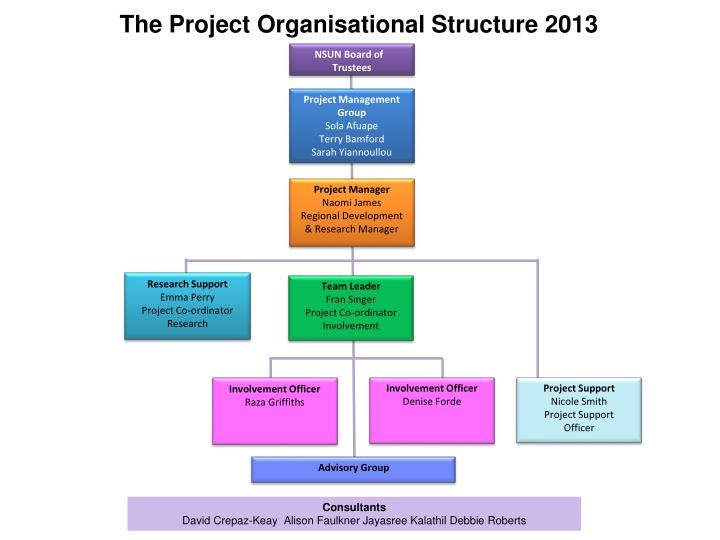The Project Organisational Structure 2013