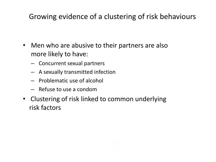 Growing evidence of a clustering of risk behaviours
