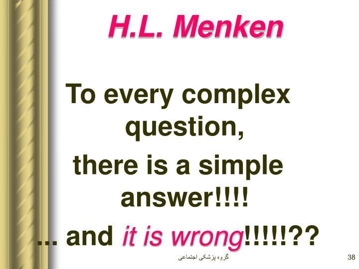 H.L. Menken