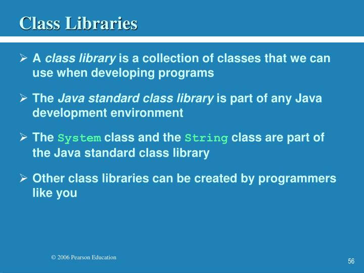 Class Libraries