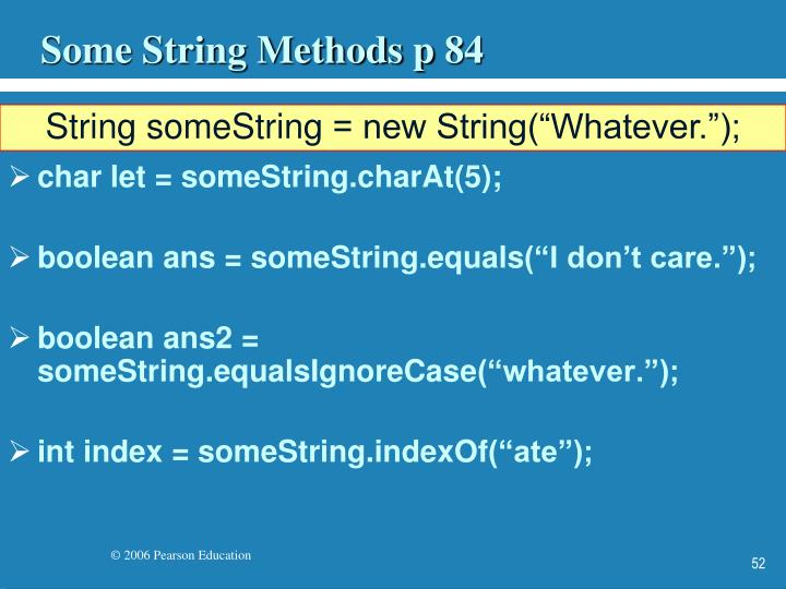 Some String Methods p