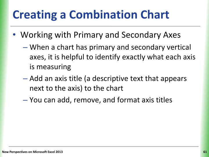 Creating a Combination Chart