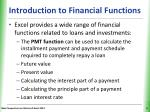 introduction to financial functions