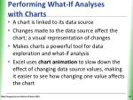 performing what if analyses with charts