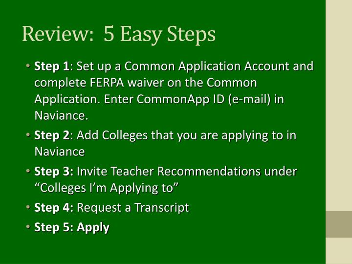 Review:  5 Easy Steps