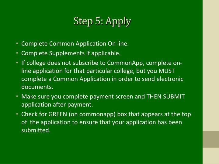 Step 5: Apply