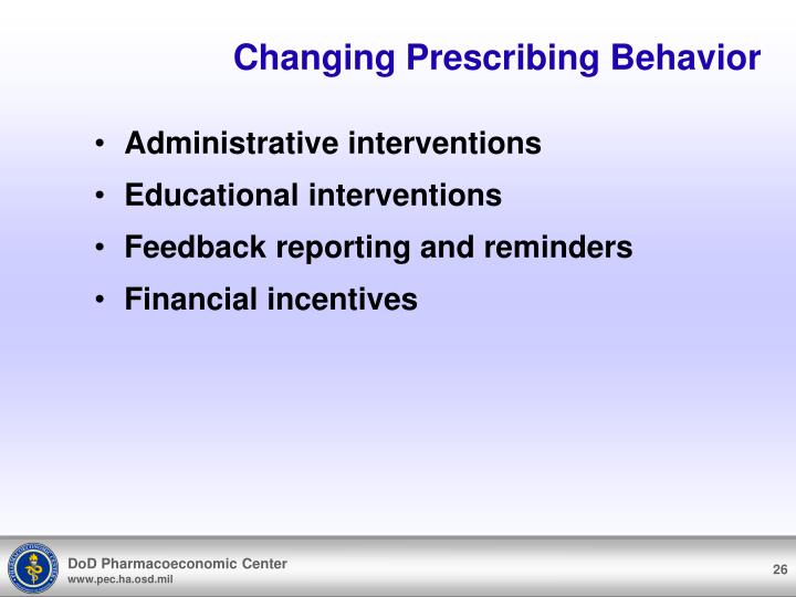 Changing Prescribing Behavior