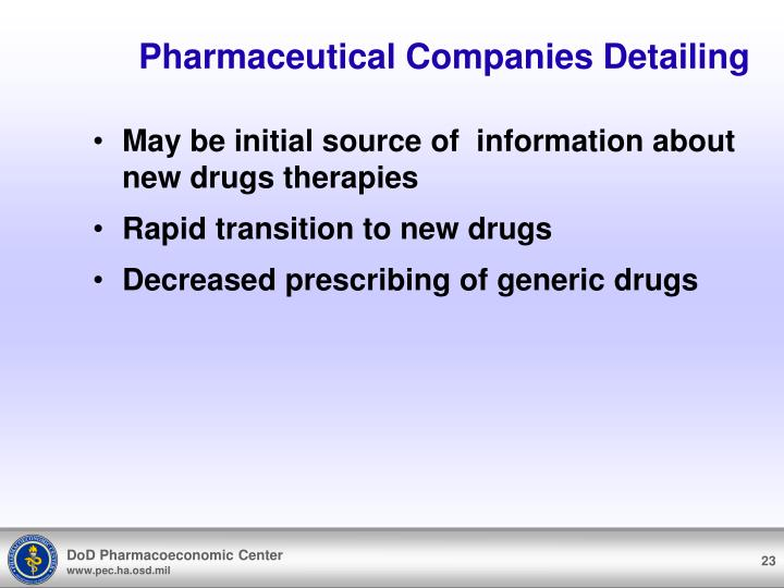 Pharmaceutical Companies Detailing