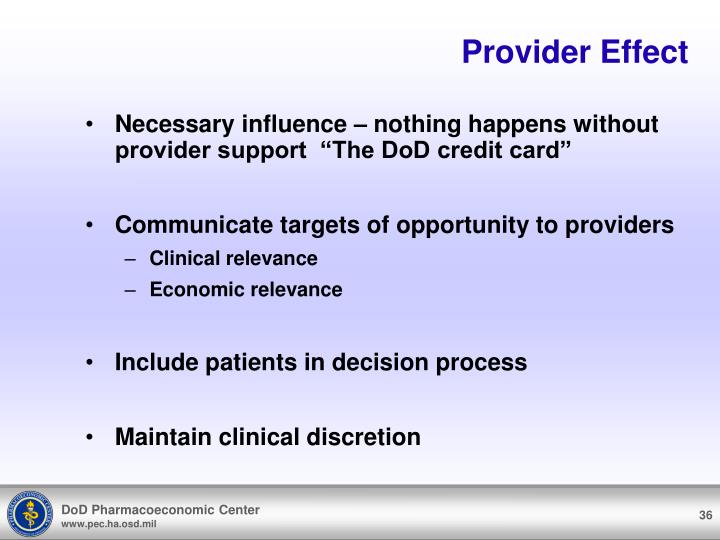 Provider Effect