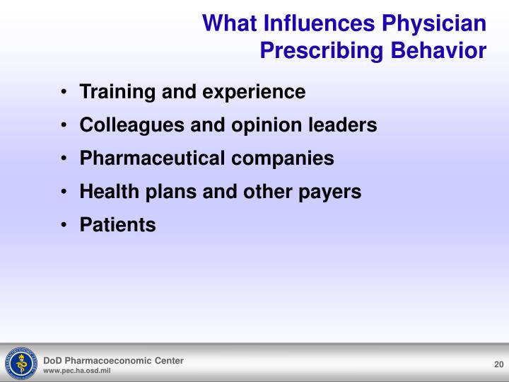 What Influences Physician Prescribing Behavior