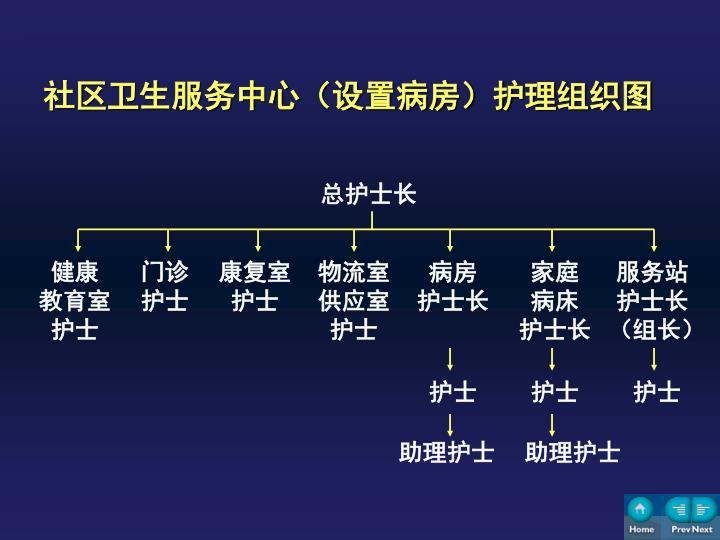 社区卫生服务中心(设置病房)护理组织图