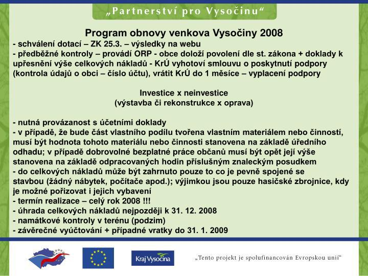 Program obnovy venkova Vysočiny