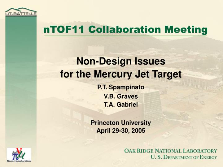Ntof11 collaboration meeting