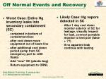 off normal events and recovery