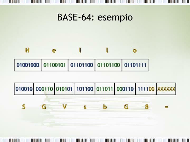 BASE-64: esempio