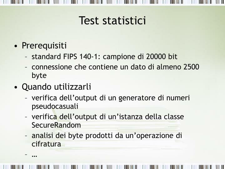 Test statistici