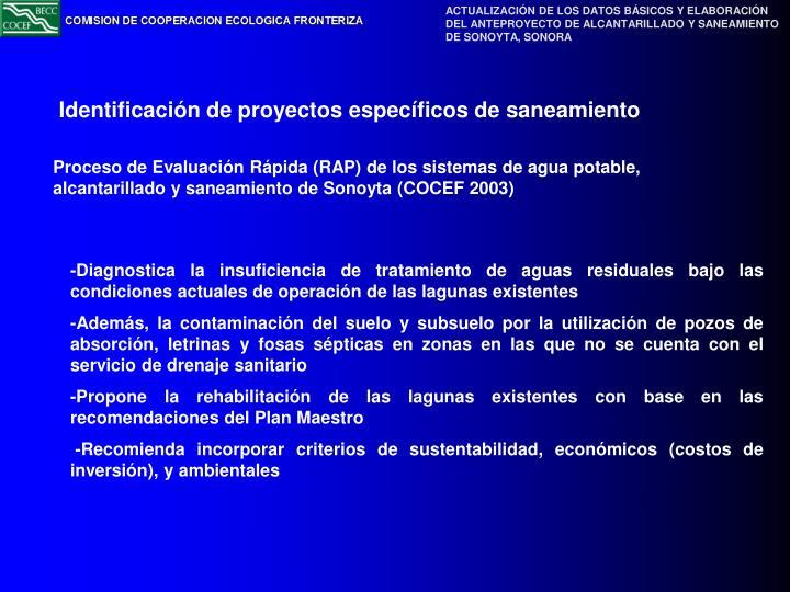 Proceso de Evaluación Rápida (RAP) de los sistemas de agua potable, alcantarillado y saneamiento de Sonoyta (COCEF 2003)