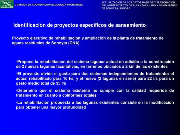 Proyecto ejecutivo de rehabilitación y ampliación de la planta de tratamiento de aguas residuales de Sonoyta (CNA)