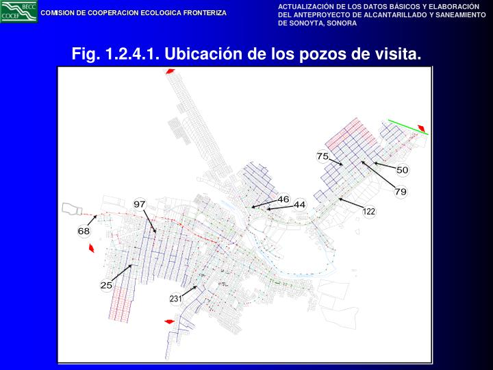 Fig. 1.2.4.1. Ubicación de los pozos de visita.