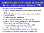 components and architecture of job and resource management systems iii