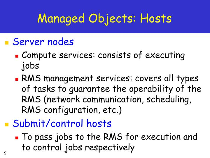 Managed Objects: Hosts