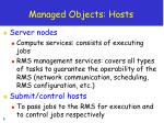 managed objects hosts