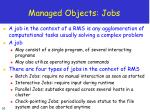 managed objects jobs