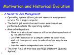 motivation and historical evolution