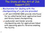 the state of the art of job support iv