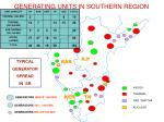 generating units in southern region