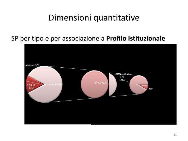 Dimensioni quantitative