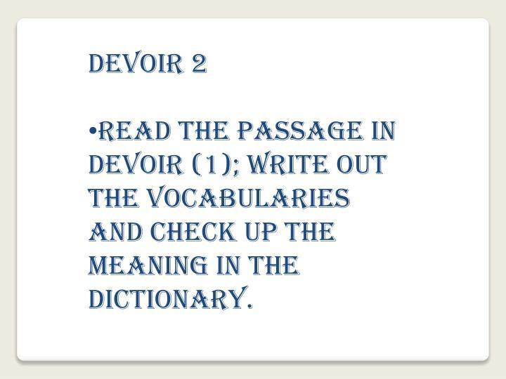 DEVOIR 2