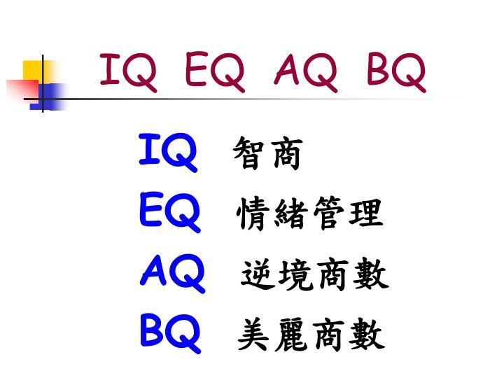 IQ  EQ  AQ  BQ