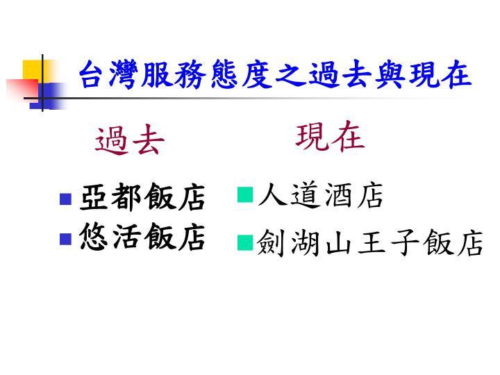 台灣服務態度之過去與現在