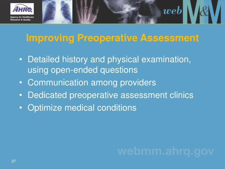 Improving Preoperative Assessment