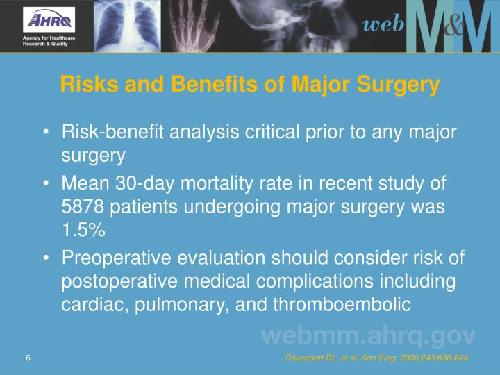 Risks and Benefits of Major Surgery