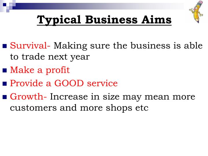 Typical Business Aims