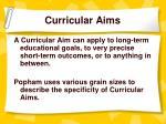 curricular aims