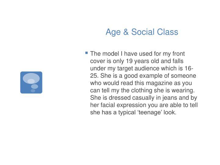 Age & Social Class