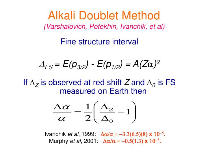 Alkali Doublet Method