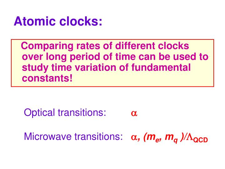 Atomic clocks: