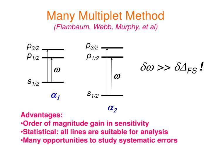 Many Multiplet Method