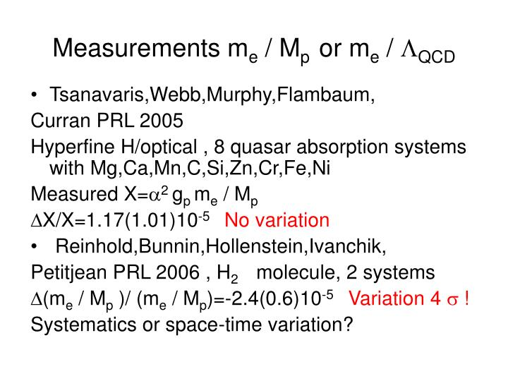 Measurements m